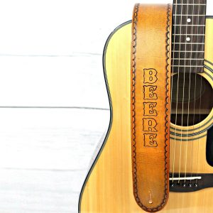 Personalized Leather Guitar Strap