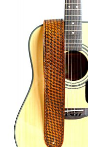 Basket Weave Leather Guitar Strap