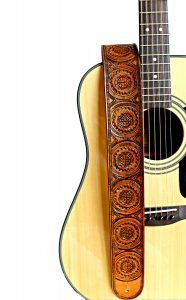 Celtic Knot Tooled Leather Guitar Strap