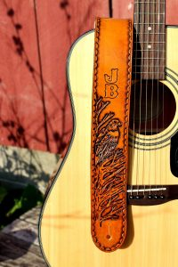Personalized Eagle Leather Guitar Strap