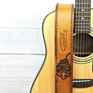Lion Guitar Strap with Name or Initials