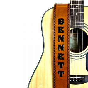 Personalized Hand Painted Leather Guitar Strap