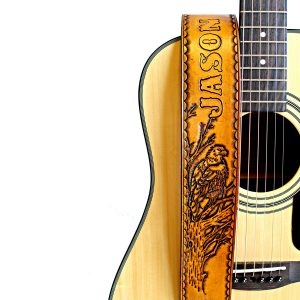 Personalized Leather Eagle Guitar Strap