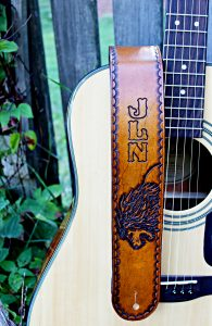 Leather Lion Guitar Strap