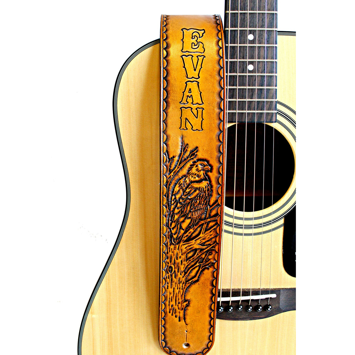 personalized_eagle_guitar_strap_leather_the_leather_smithy