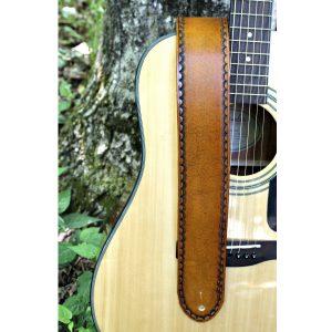 Tan Leather Guitar Strap