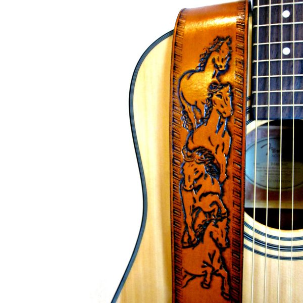 Wild Horse Leather Guitar Strap