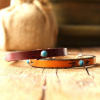 Southwestern Turquoise Thin Leather Bracelet