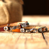 Stainless Steel Lobster Clasp Leather Bracelets
