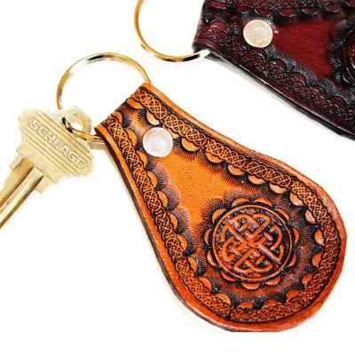 Celtic Leather Key Fob