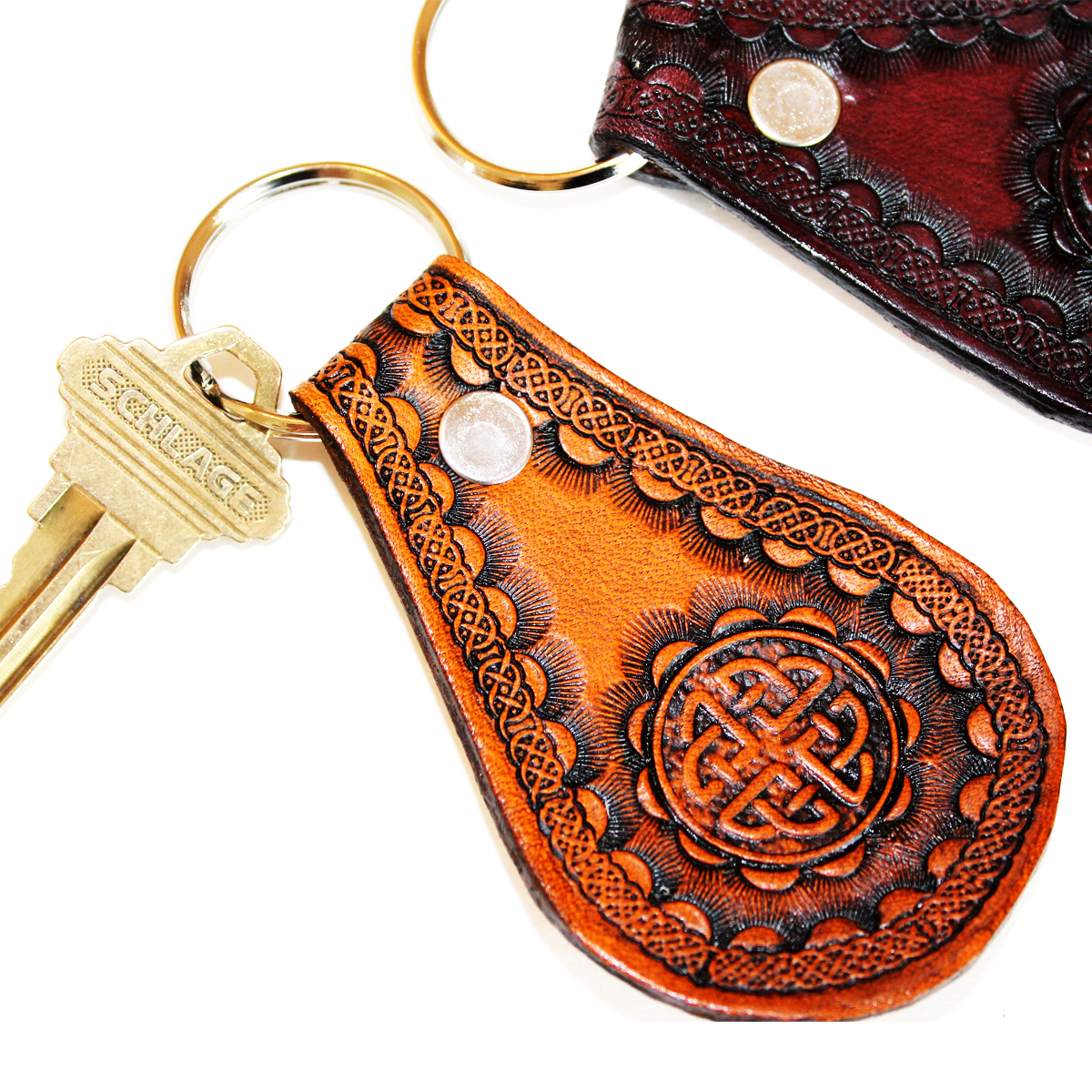 celtic-leather-key-fob-the-leather-smithy_1