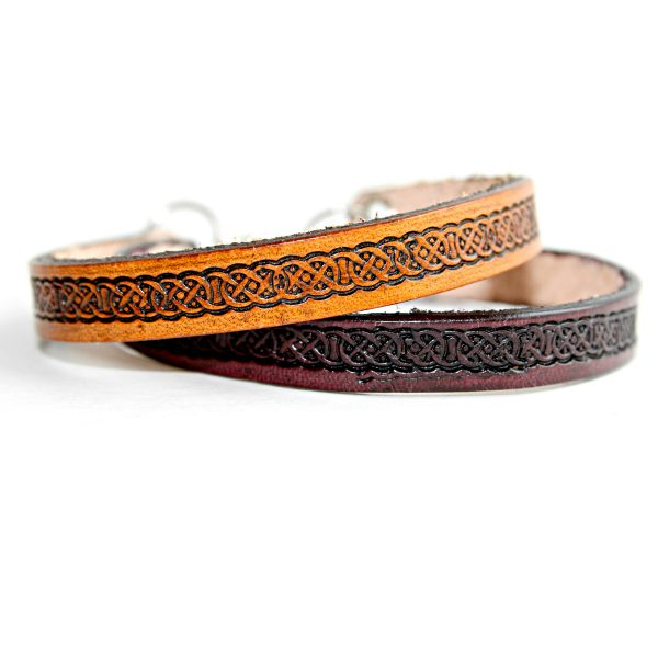 Celtic Thin Leather Bracelet