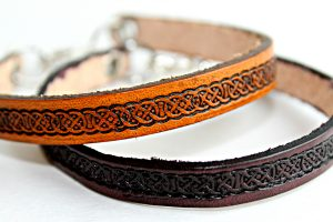 Celtic Thin Leather Bracelet
