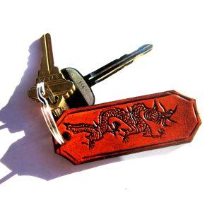 Dragon Leather Key Chain
