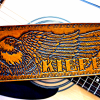 Hand Tooled Eagle Personalized Guitar Strap