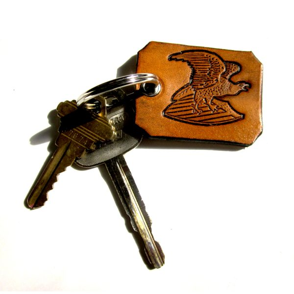 Eagle Leather Key Chain