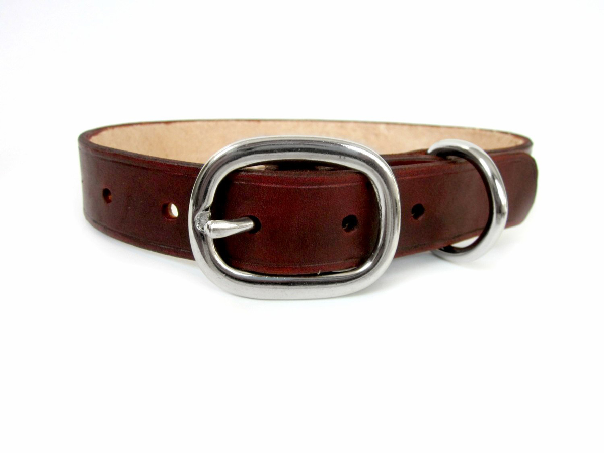 brown-leather-dog-collar-large-meduim-dogs-puppies-the-leather-smithy
