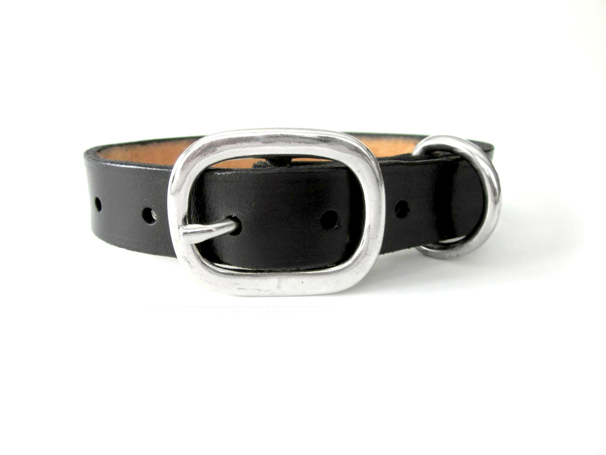 black-leather-dog-collar-large-medium-dogs-puppies-the-leather-smithy