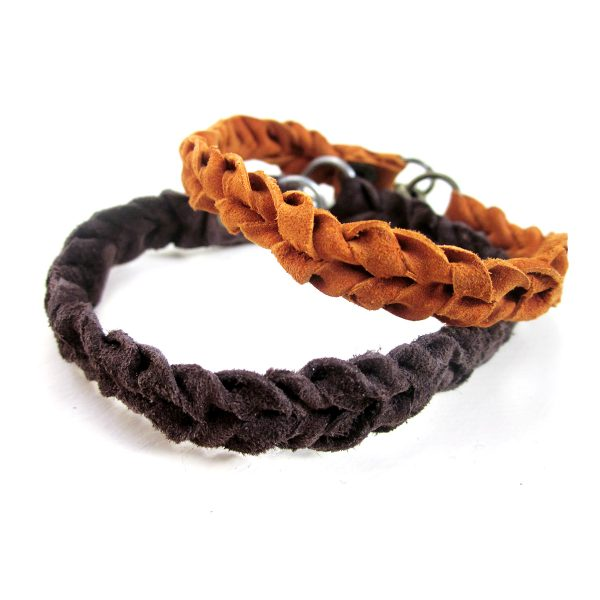 Knotted Bohemian Thin Leather Bracelet