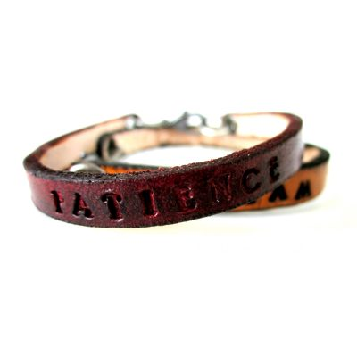 Personalized Thin Leather Bracelet