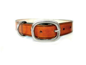 Rustic Leather Dog Collar for Large and Medium Dogs