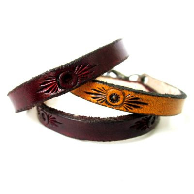 Rustic Sun Leather Bracelet