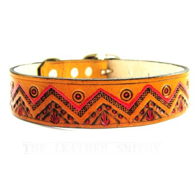 Southwestern Leather Dog Collar