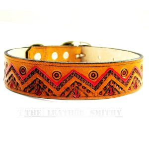 Southwestern Leather Dog Collar