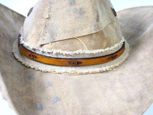Southwestern Sun Thin Leather Hatband