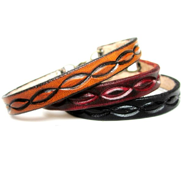 Weave Pattern Thin Leather Bracelet