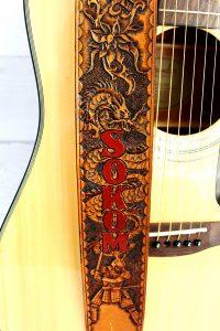 Legendary Dragon Samurai Leather Guitar Strap