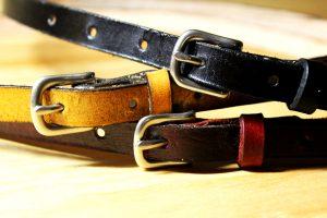 Ladies Skinny Leather Belt