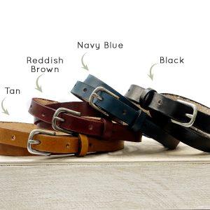 Skinny Belt Color Options