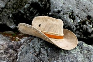 Rustic Leather Hat Band with Buckle