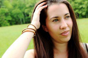 Women's Thin Leather Wrap Bracelet