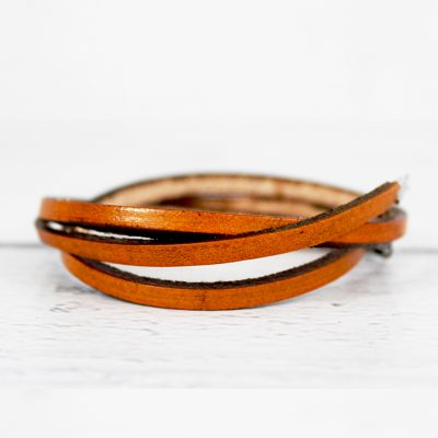 Bohemian Tribal Style Thin Leather Wrap Bracelet