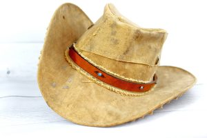 Turquoise Rivet Leather Hat Band with Buckle