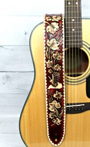 Two Tone Custom Leather Guitar Strap