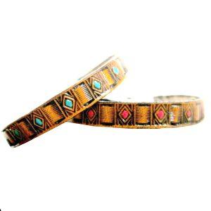 Southwestern Thin Leather Bracelet