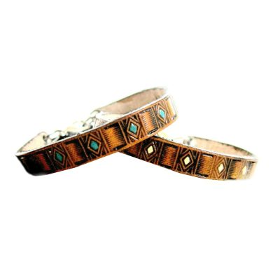 Southwestern Thin Leather Bracelet