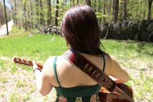 Flower Guitar Strap Back