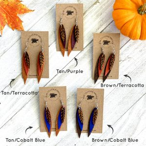 Leather Feather Color Options