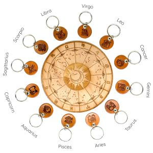 Horoscope Leather Key Chain Chart