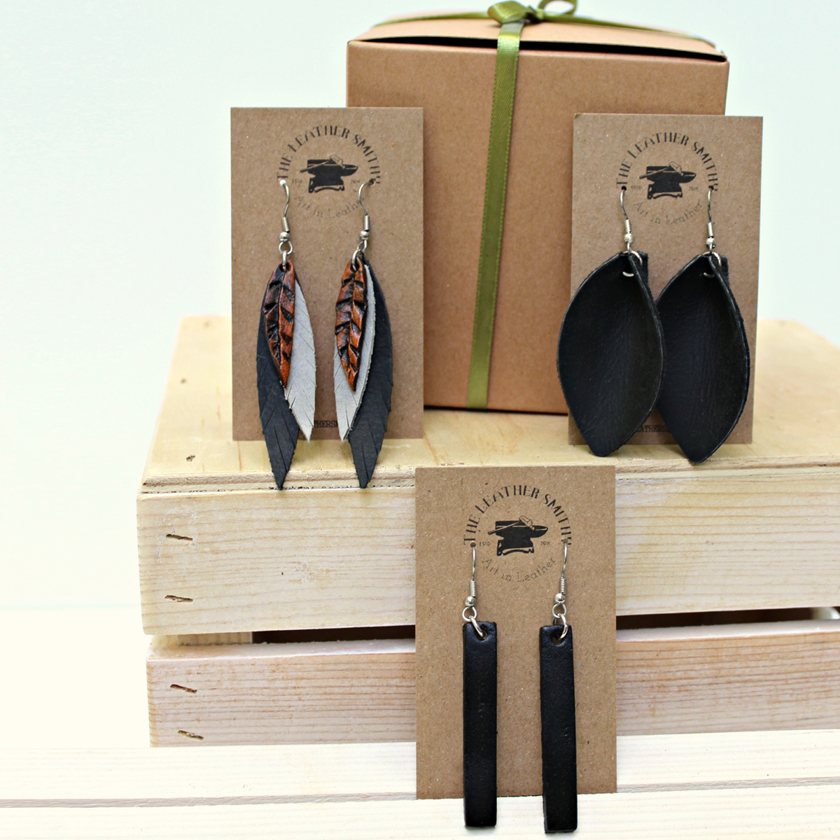 leather-earrings-3-pack-gift-set-with-gift-box-the-leather-smithy_2