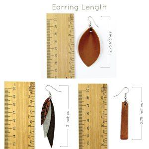 Leather Earring Length