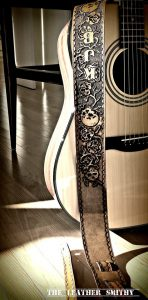Personalized Leather Guitar Straps