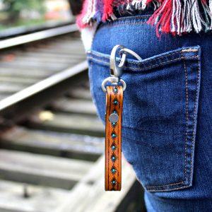 Western Leather Keychain