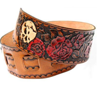 Skull Rose Guitar Strap