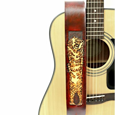 Polar Bear Leather Guitar Strap