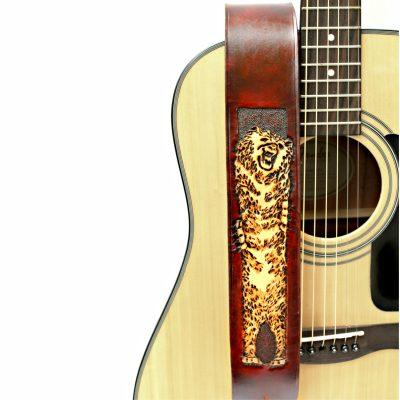 Polar Bear Leather Guitar Strap